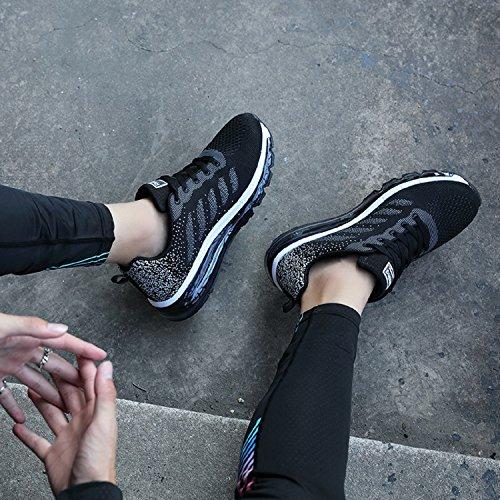 da Ginnastica Uomo Basse Unisex all'Aperto tqgold Sportive Corsa Casual Interior Scarpe Sneakers Nero Fitness Running Donna qIf1WxwU