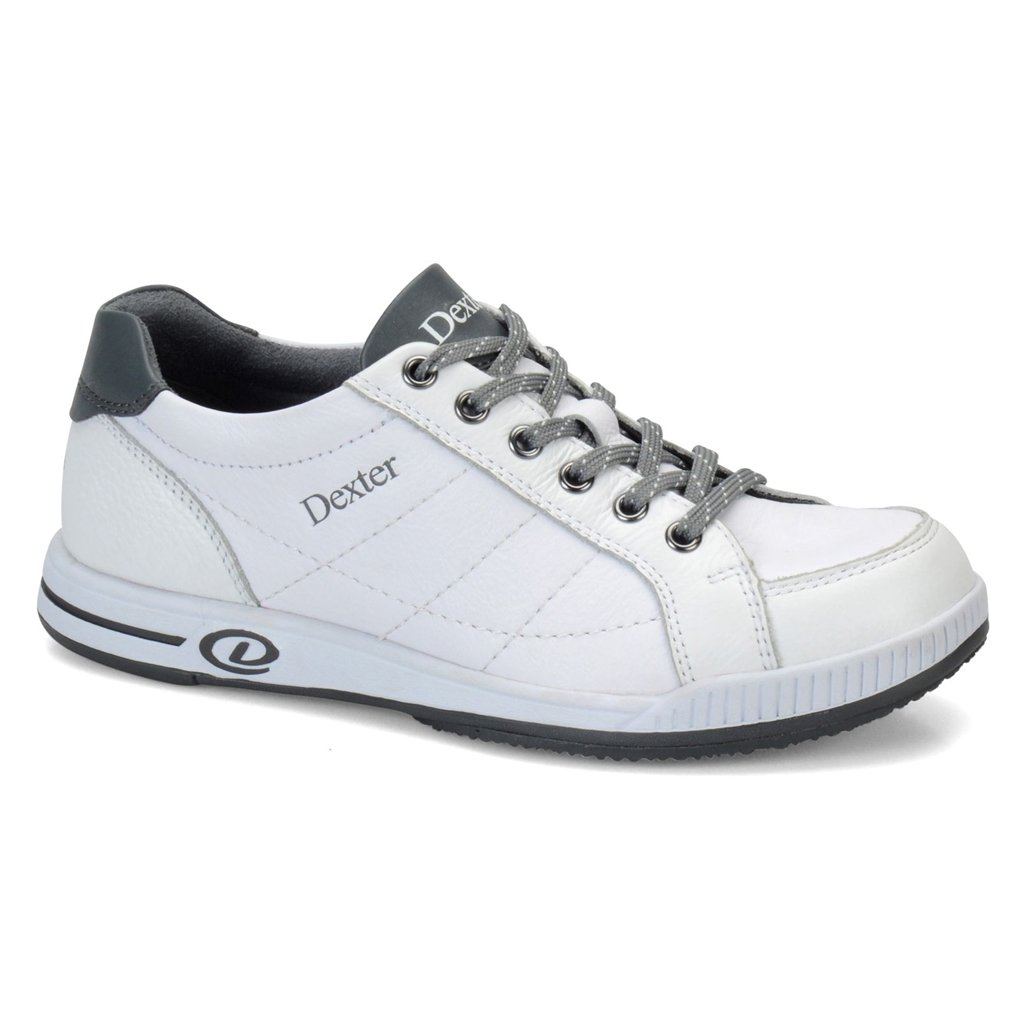 Dexter Womens Deanna Bowling Shoes White/Grey- Right Hand (8 1/2 M US, White/Grey)