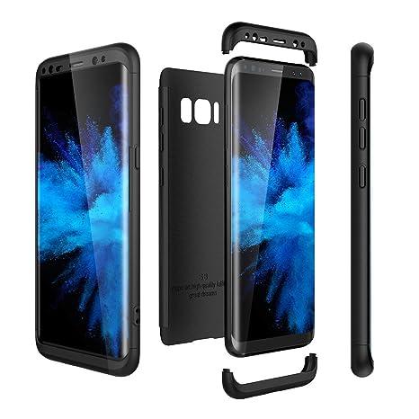 Funda Galaxy S8, Carcasa para Samsung S8, RosyHeart 3 en 1 Protettivo Rigido Case Cover del Híbrida [Protección 360 Grados] Ultra Robusto Absorbe los ...