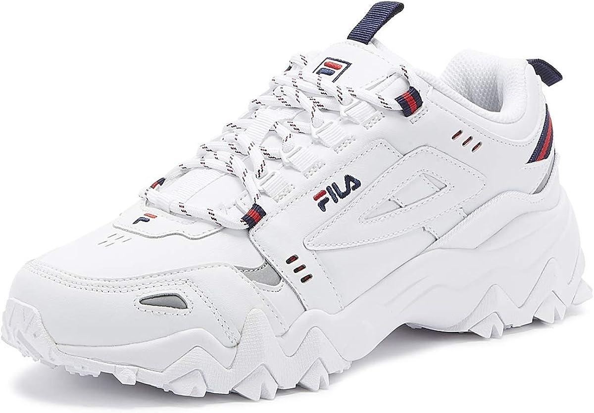 Fila Oakmont Trail Hombres Blanco/Azul Marino/Rojo Zapatillas-UK 11 / EU 46: Amazon.es: Zapatos y complementos