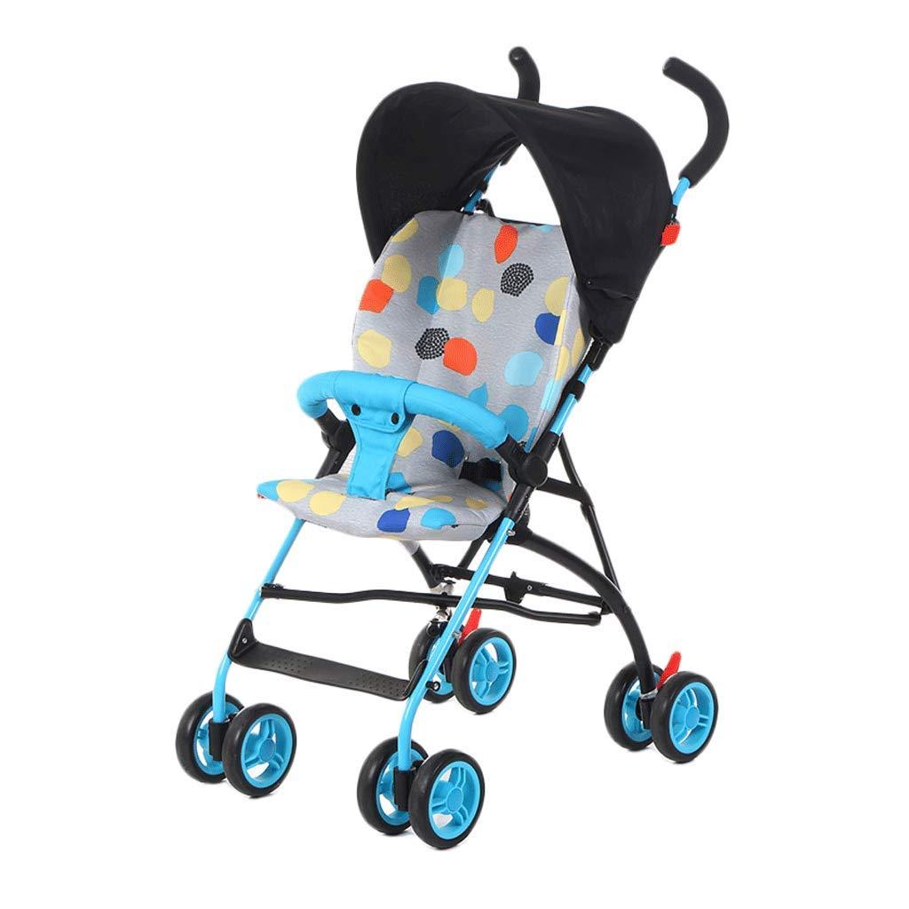 Cochecito de bebé Ligero Amortiguador Paraguas Carrito de cuatro ruedas para niños de viaje portátil para niños (Color : A)