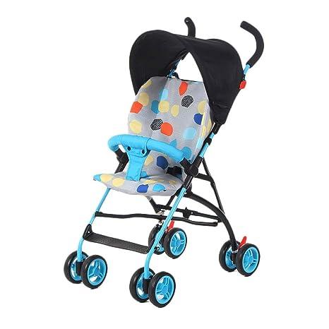 Cochecito de bebé Ligero Amortiguador Paraguas Carrito de cuatro ruedas para niños de viaje portátil para