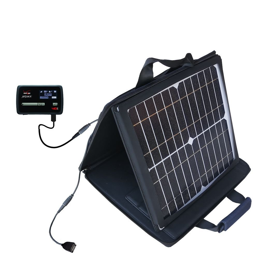 Gomadic SunVolt Powerful and Portable Solar Charger suitable for the Novatel Mifi 4620L - Incredible charge speeds for up to two devices by Gomadic