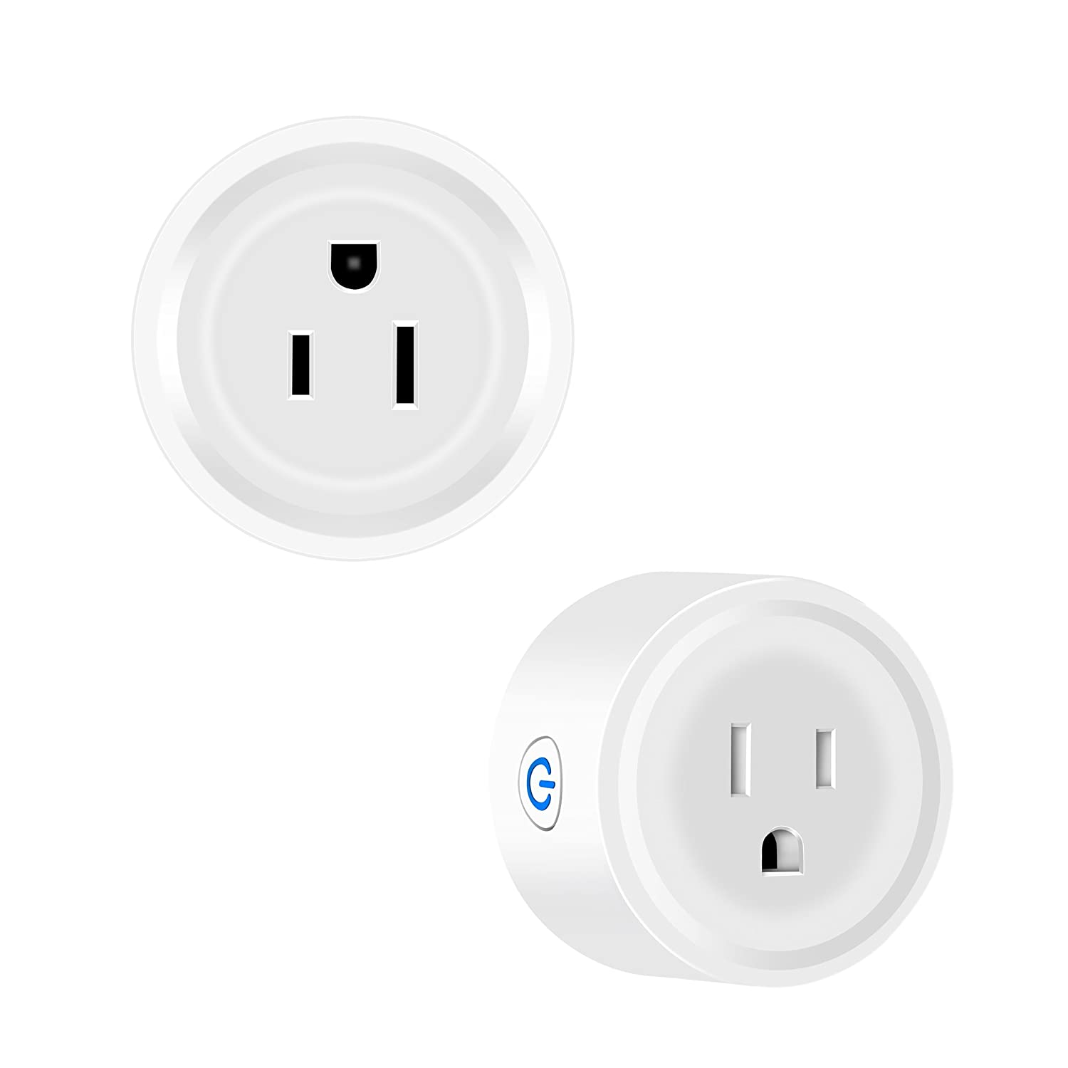 Wi-Fi Smart Wireless Plug, Mini Outlet, Remote Control by Phones, Voice control with  Alexa Echo Echo dot and Google Home, White CP Professional