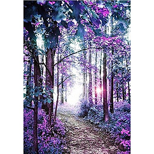 Diamond Painting Kits for Adults, Seaintheson Full Drill DIY Diamond Rhinestone Embroidery Cross Stitch Art Craft for Home Wall Decor Colorful Forest, 30x40CM