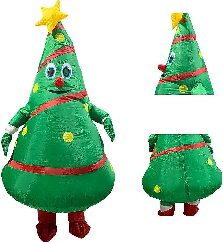 Okngr - Disfraz hinchable para adulto, diseño de árbol de Navidad
