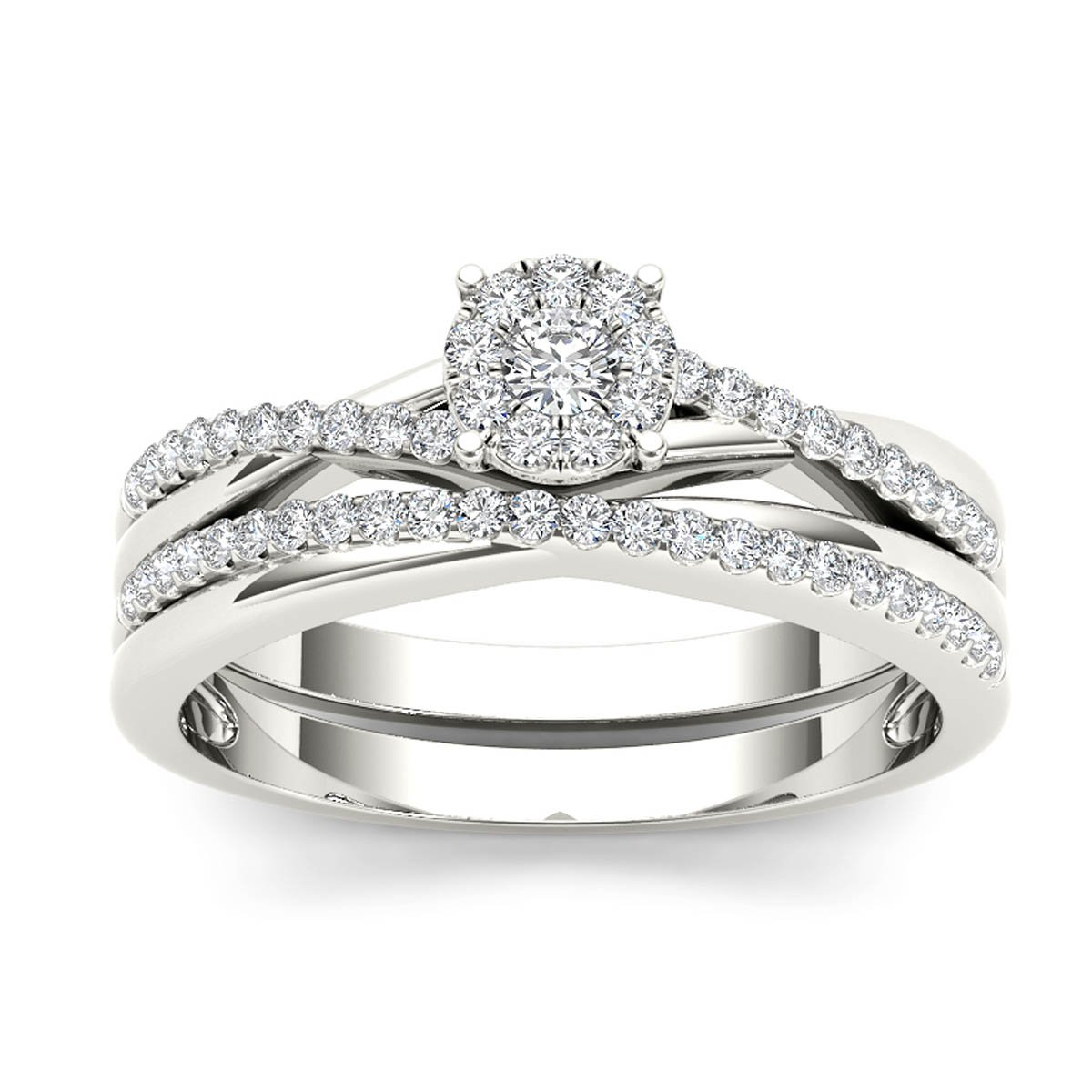 Fine Rings Jewelry & Watches Smart Engagement Diamond Ring Band Set 4 Prong Princess Cut Certified 18k White Gold