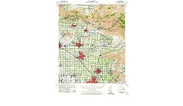 Amazon.com: YellowMaps Anaheim CA topo map, 1:62500 scale, 15 X 15 Minute, Historical, 1942, updated 1961, 21.2 x 16.6 IN - Paper: Sports & Outdoors