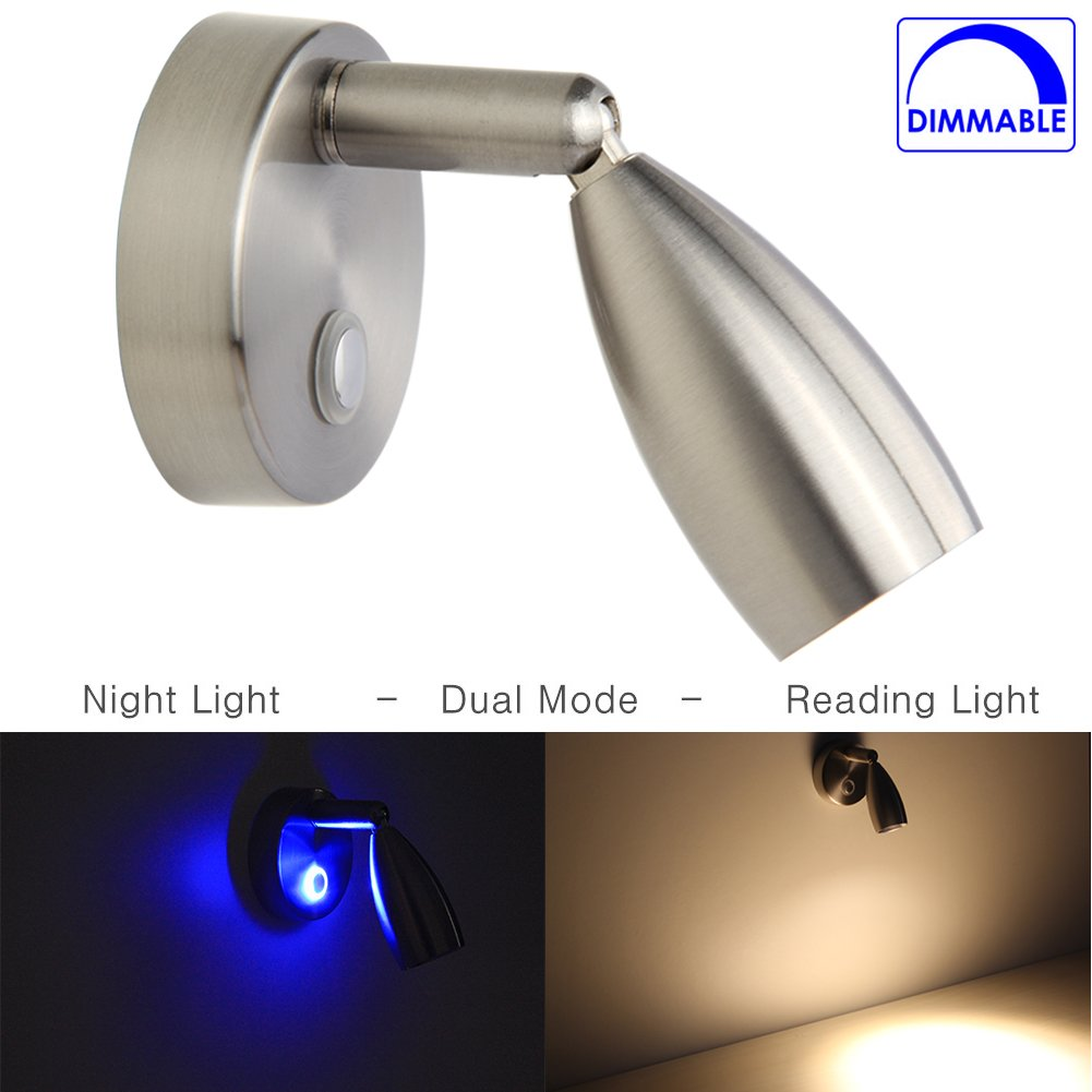 Amazon rv reading light led directional spot light for boats amazon rv reading light led directional spot light for boats rvs interior lighting touch onoffdim switch brushed nickel 12 volt hard wired arubaitofo Choice Image
