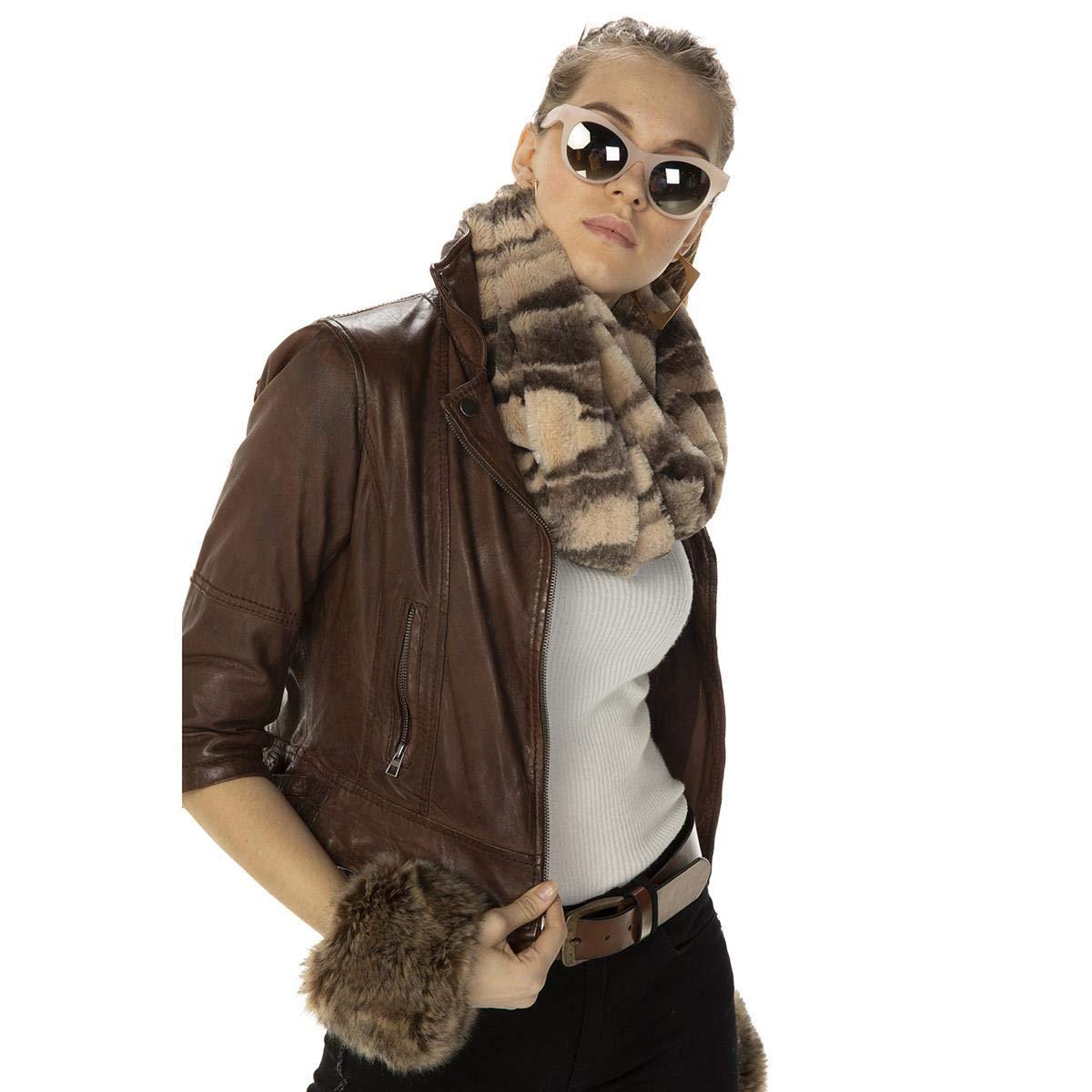 Miramar Women's Winter Infinity Scarf Fashion Circle Loop Scarves Thick Warm 11001 Beige