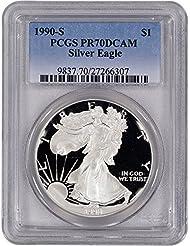 1990 S American Silver Eagle Proof $1 PR70 DCAM PCGS
