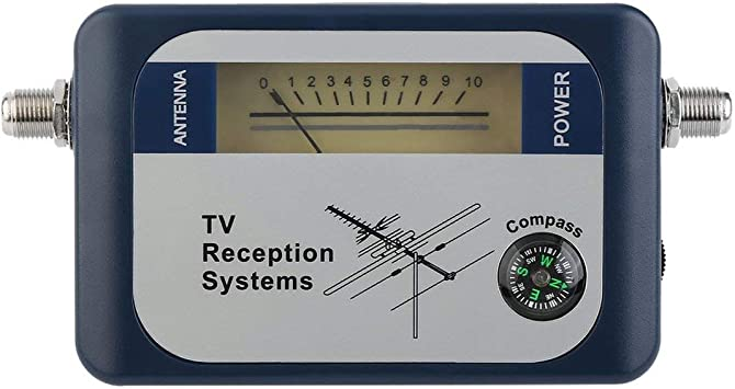 DVB-T Buscador Antena Digital Antena de televisión terrestre Señal Medidor de Potencia de Potencia Sistemas de recepción de TV de Puntero con brújula