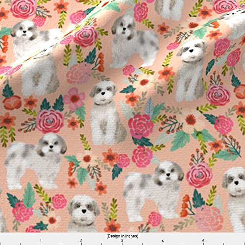 Shih Tzu Fleece (Shih Tzu Fabric Shih Tzu Florals Peach Pink Girls Sweet Pet Dog Dogs Fabric Dog Breed Shih Tzu Fabric by Petfriendly Printed on Fleece Fabric by the Yard by Spoonflower)