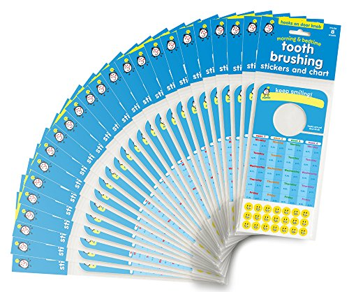 - Tooth Brushing Stickers and Chart: BULK 100 UNITS. Ideal for Pediatric Dentist office give away