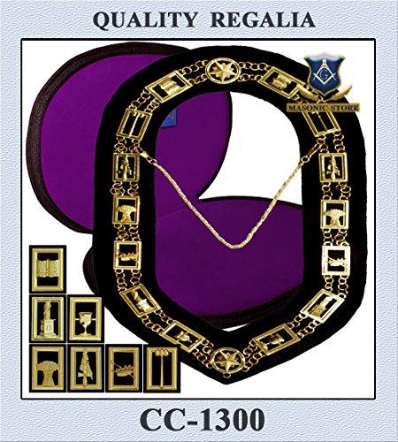 Masonic 3D - Order Eastern Star Chain Collar + Case