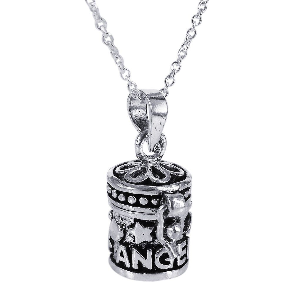 AeraVida Dream Angel Prayer Box Locket .925 Sterling Silver Pendant Necklace by AeraVida