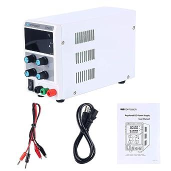 YaeKoo 30V 5A Variable Adjustable Digital Regulated DC Power Supply, Input  AC 110V