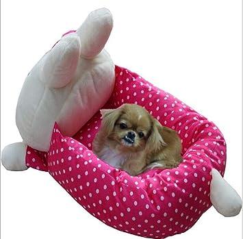 635 Cama para Perros Conejo Mascota Princesa sofá-Cama de algodón Varios Perros para Punto de Red Onda Perro pequeño Gato se levantó de la Cama: Amazon.es: ...