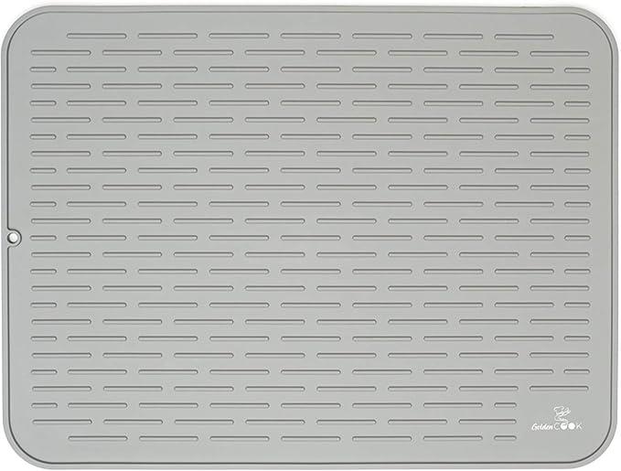 Amazon Com Silicone Dish Drying Mat 24 X 18 Extra Large Dish Drying Mat Grey Kitchen Dining