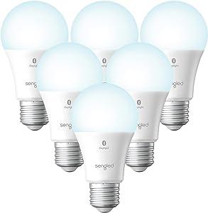 Sengled Alexa Light Bulb, Smart Light Bulbs That Work with Alexa Only, Bluetooth Mesh Standard A19 E26 Dimmable LED Bulb Daylight 5000K, 60W Equivalent 800LM, High CRI, High Brightness, 6 Pack