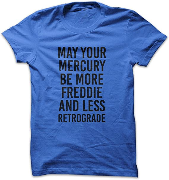 New Authentic Mercury T Shirt Blue Ringspun  Large