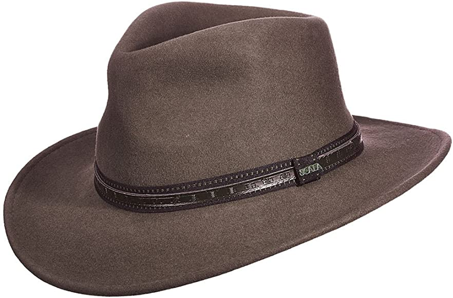 13af8e20d855ff Amazon.com: Dorfman Pacific Scala Men's Crushable Wool Outback Hat ...