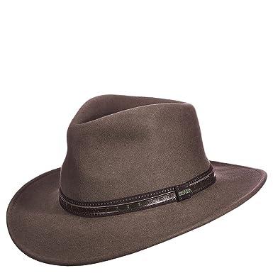 Scala Men s Crushable Wool Outback Hat Khaki Medium  Amazon.in  Clothing    Accessories ec4947681e35