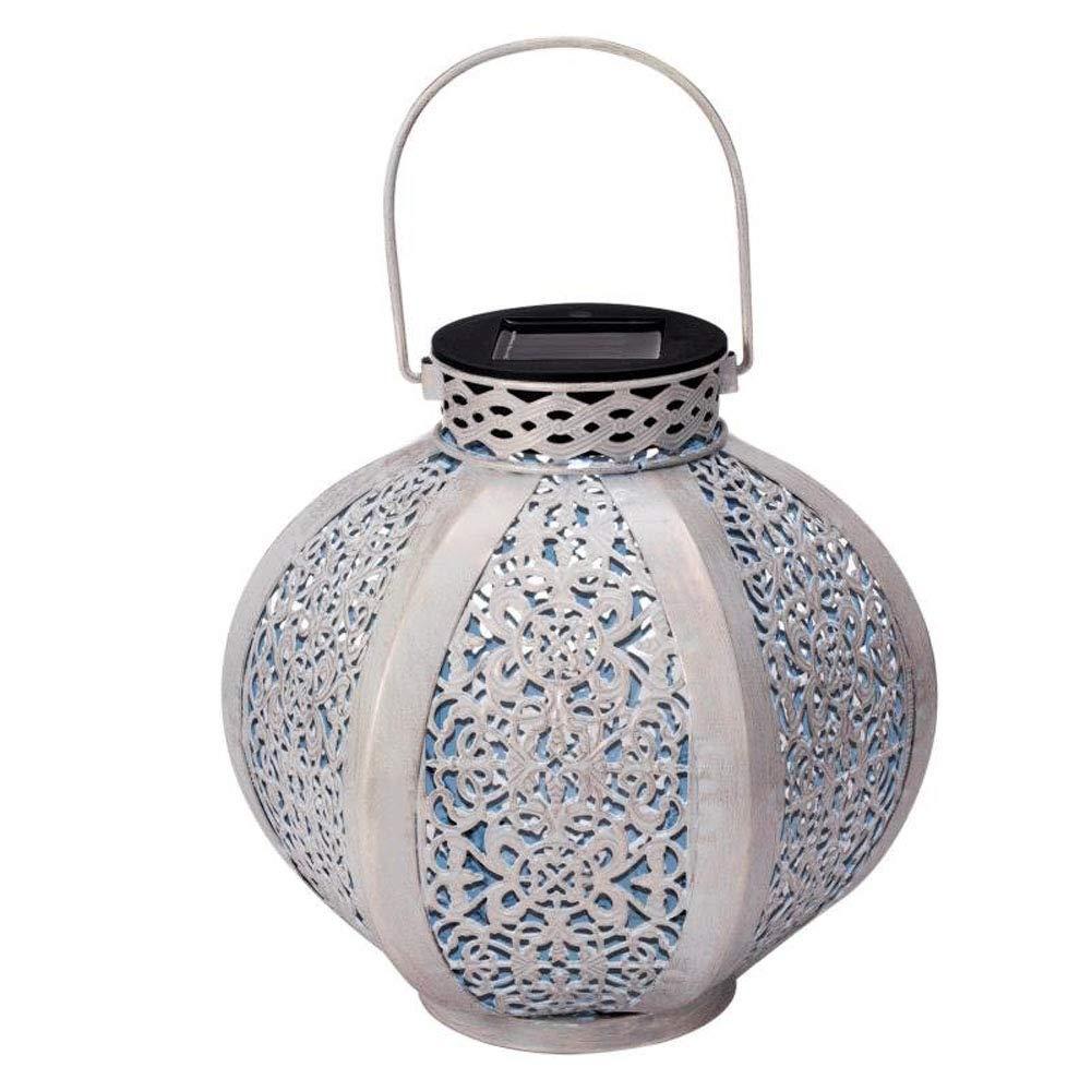 Solar Lantern Outdoor Hanging Solar Lights Metewish Decorative LED Lights Waterproof for Garden Patio Yard White
