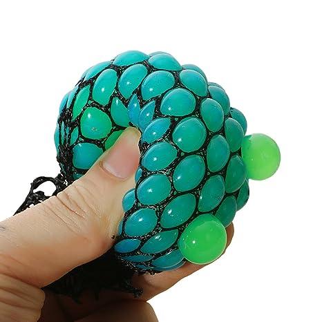 bingole 2 piezas al azar de malla Squishy pelotas antiestrés UVA aliviar la presión pelotas