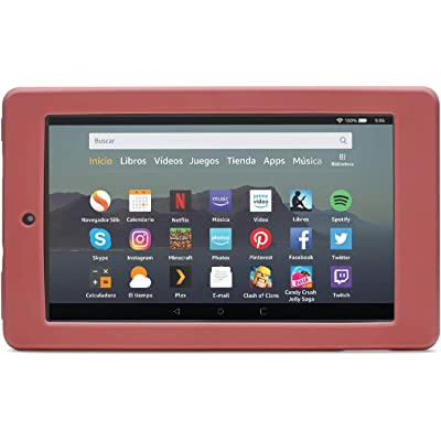 NuPro Funda resistente a los golpes para el tablet Fire 7, color malva