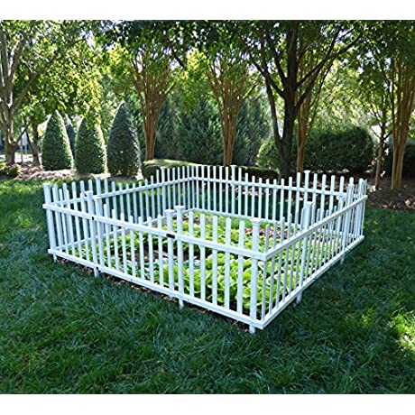 Zippity Outdoor Products Pet Or Garden Enclosure Vinyl Fence Kit With Gate 94 X 91