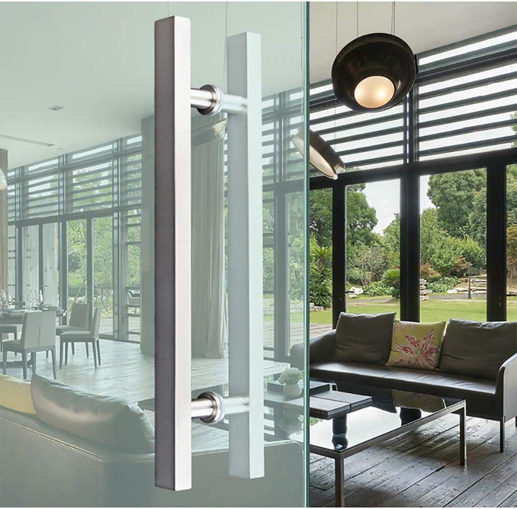 Size : 1000/×700mm Brushed Stainless Steel Square Tube Door Handle Suitable for Wooden Door//Glass Door//Barn Door//Push-Pull Door//Sliding Door