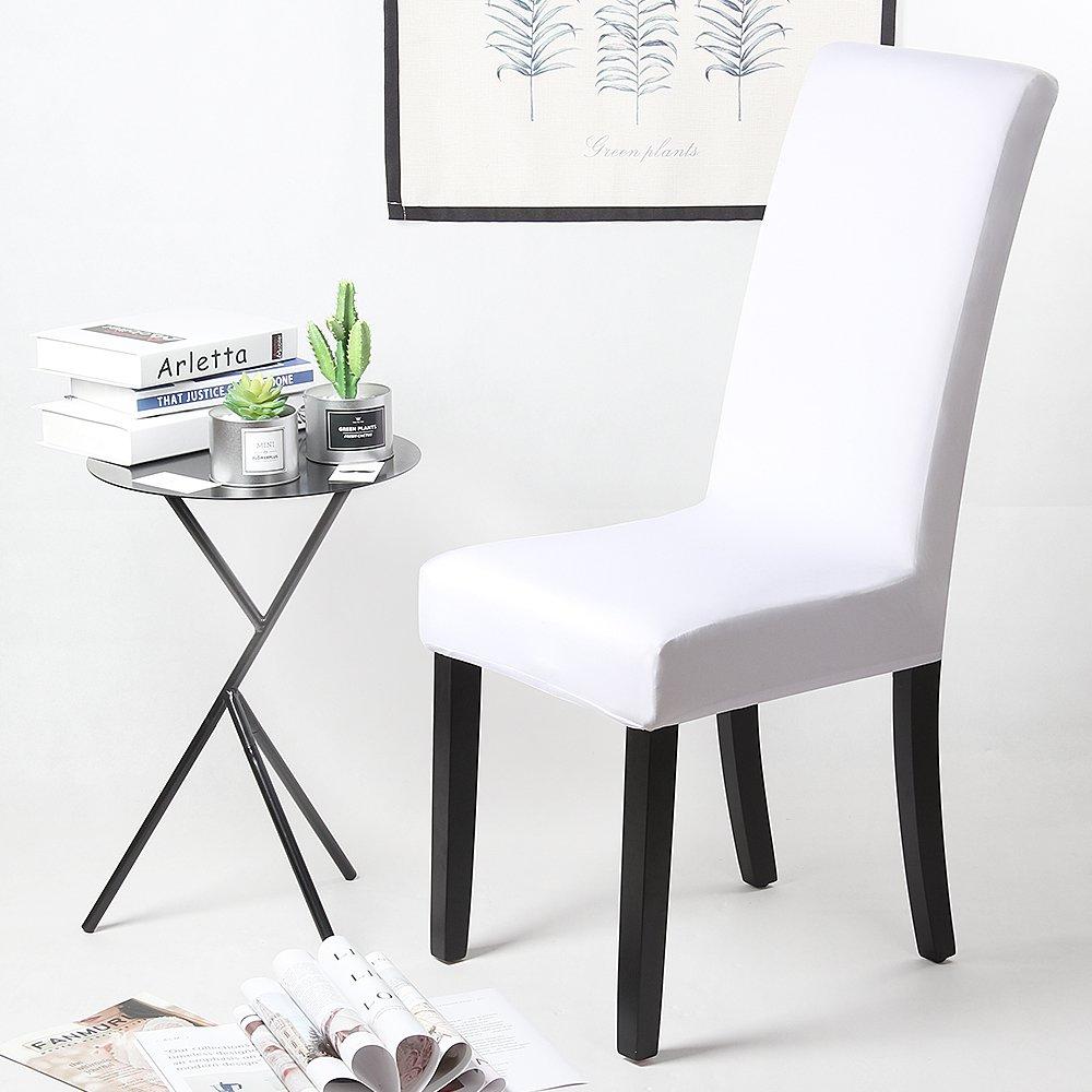 Fundas para sillas Pack de 4 Fundas sillas Comedor Fundas elásticas, Cubiertas para sillas,bielástico Extraíble Funda, Muy fácil de Limpiar, Duradera ...
