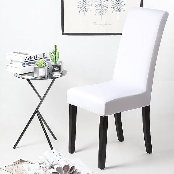 Fundas para sillas Pack de 6 Fundas sillas Comedor Fundas elásticas, Cubiertas para sillas,bielástico Extraíble Funda, Muy fácil de Limpiar, ...