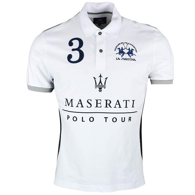 La Martina - Polo - Blusa - para Hombre Blanco XXXL: Amazon.es ...