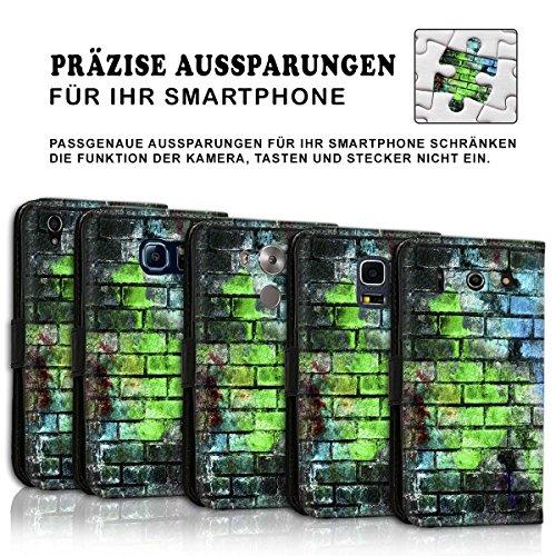 Wallet Book Style Flip Handy Tasche Case Schutz Hülle Schale Motiv Etui für Apple iPhone 4 / 4S - Design Flip MVD67