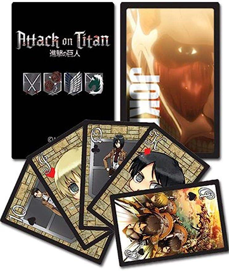 Attack on Titan Playing Cards Attack on Titan naipes: Amazon.es: Juguetes y juegos