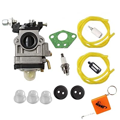 HURI Carburetor with Gasket Fuel Line Fuel Filter Primer Bulb for Husqvarna 145BT Kawasaki TE45DX Blower WYK-74 WYK-74-1: Automotive