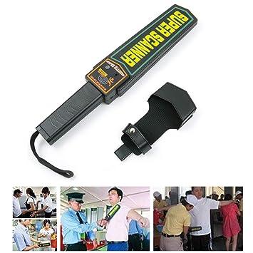 JUSTDOLIFE Detector De Metales Mano Varita De Seguridad Escáner De Seguridad