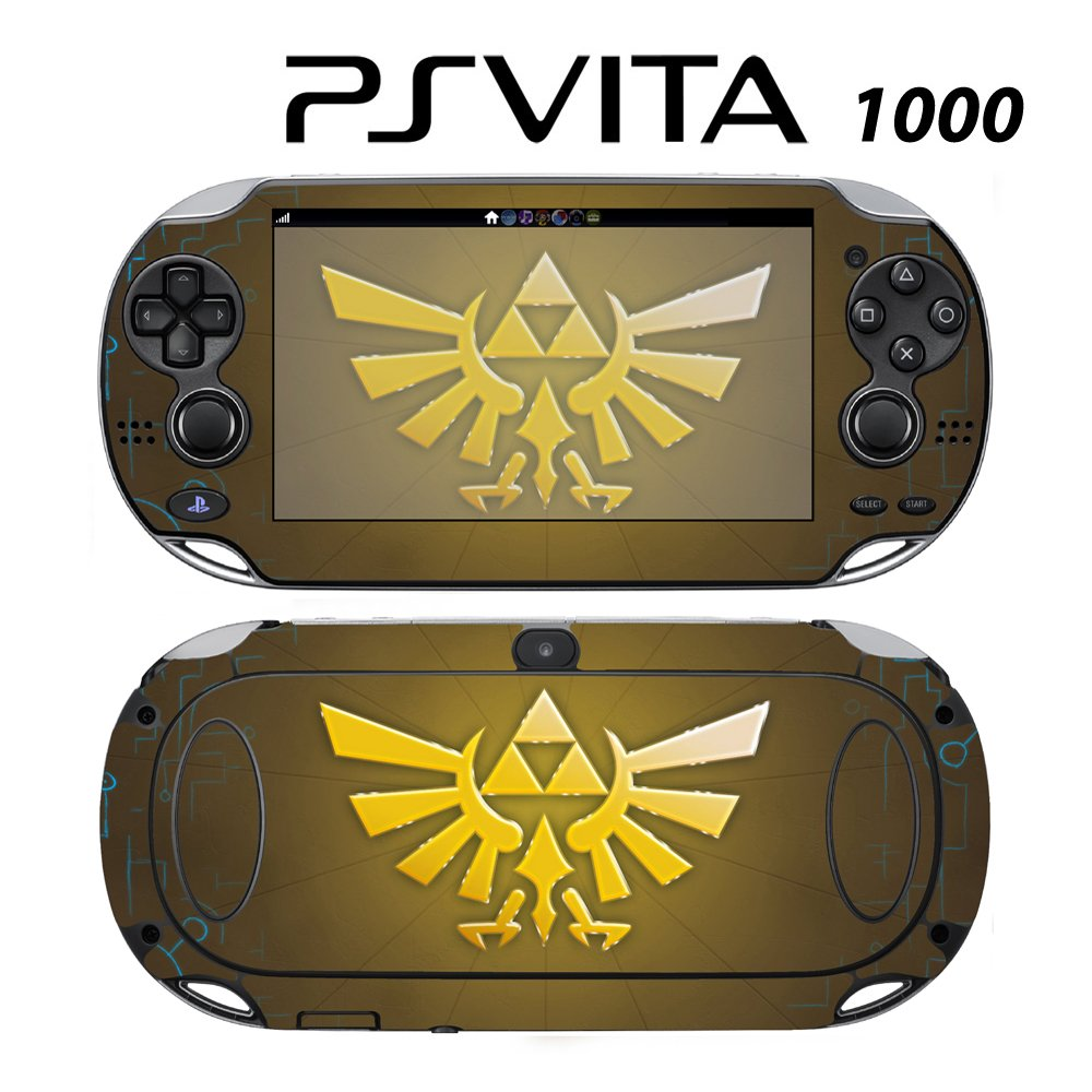 Decorative Video Game Skin Decal Cover Sticker for Sony PlayStation PS Vita (PCH-1000) - Zelda Triforce Logo