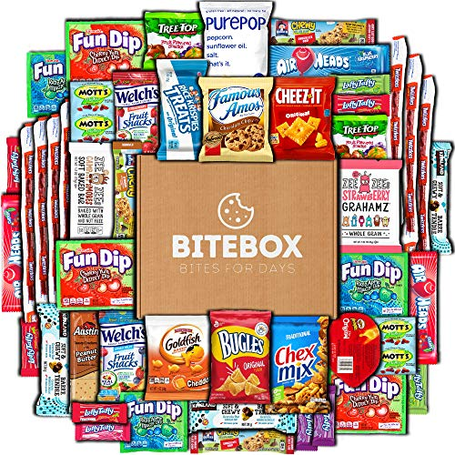High School Graduation Party Food Ideas - BiteBox Care Package (45 Count) Snacks