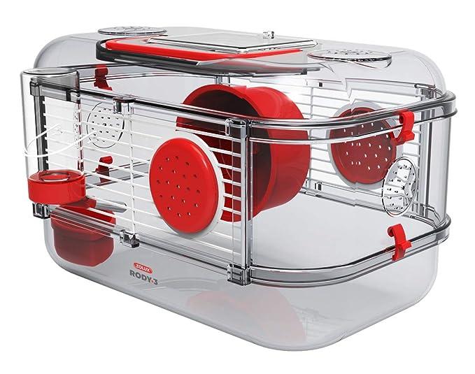 Zolux Jaula RODY.3 Mini Rojo: Amazon.es: Productos para mascotas