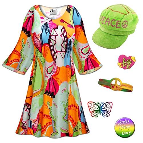 Peace & Love Plus Size Costumes (Lava Love Gogo Dancer Plus Size Supersize Halloween Costume Basic Kit 3x/Regular)
