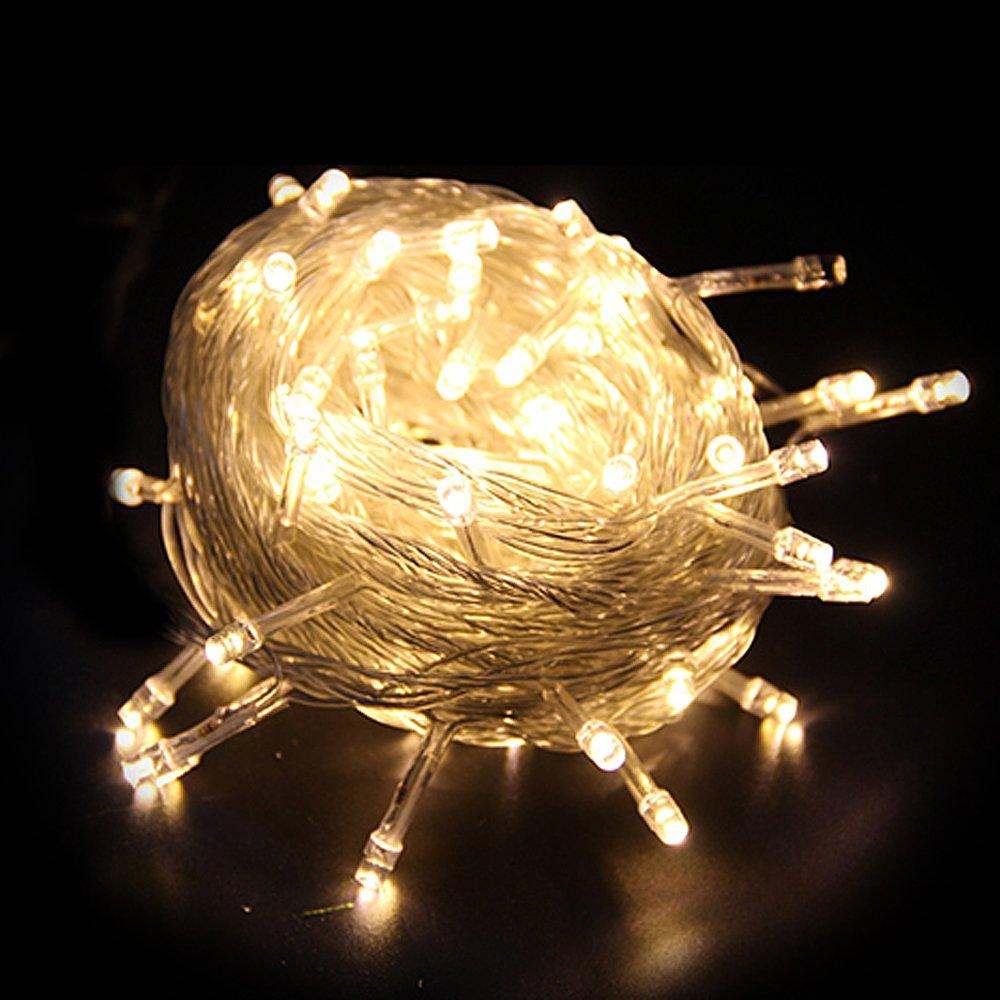 HG® 300LEDs 30m Blanco Cálido Cadena De Luces Adena De Luces LED Fiesta De Navidad Decoración Para Navidad