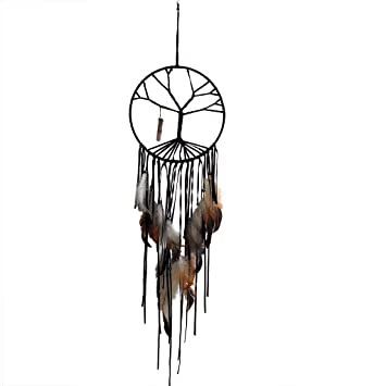 Black Dream Catcher Of The Tree Of Life For Home Wall Car Hanging