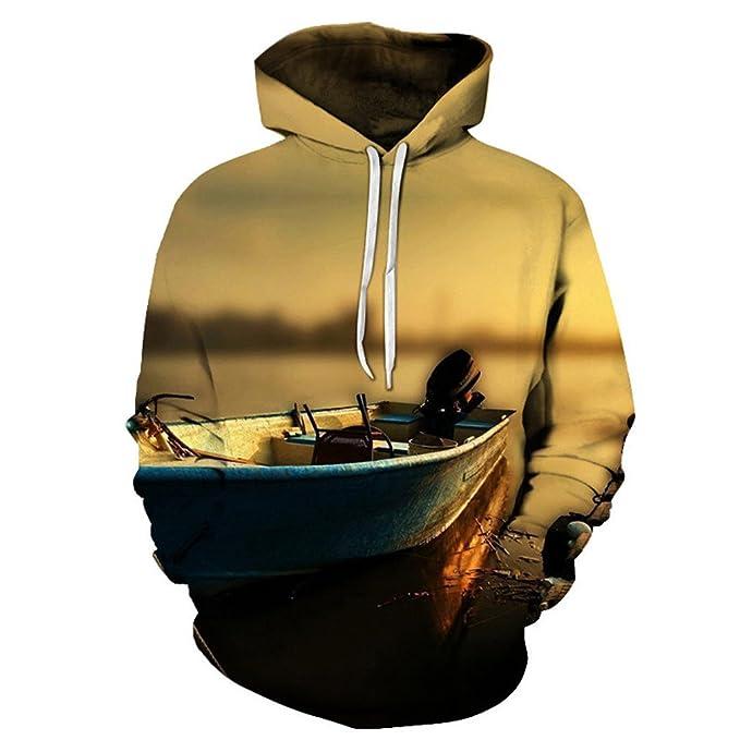Bsrale Sudaderas Capucha Estampado Barcos Hombres/Mujeres Sudaderas Divertidas Pullover Chándales 3D Sudaderas Capucha Unisex: Amazon.es: Ropa y accesorios