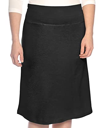 a6dae9bb070fb Kosher Casual Women s Modest A-Line French Terry Cotton Spandex Knee Length  Sports Skirt at Amazon Women s Clothing store