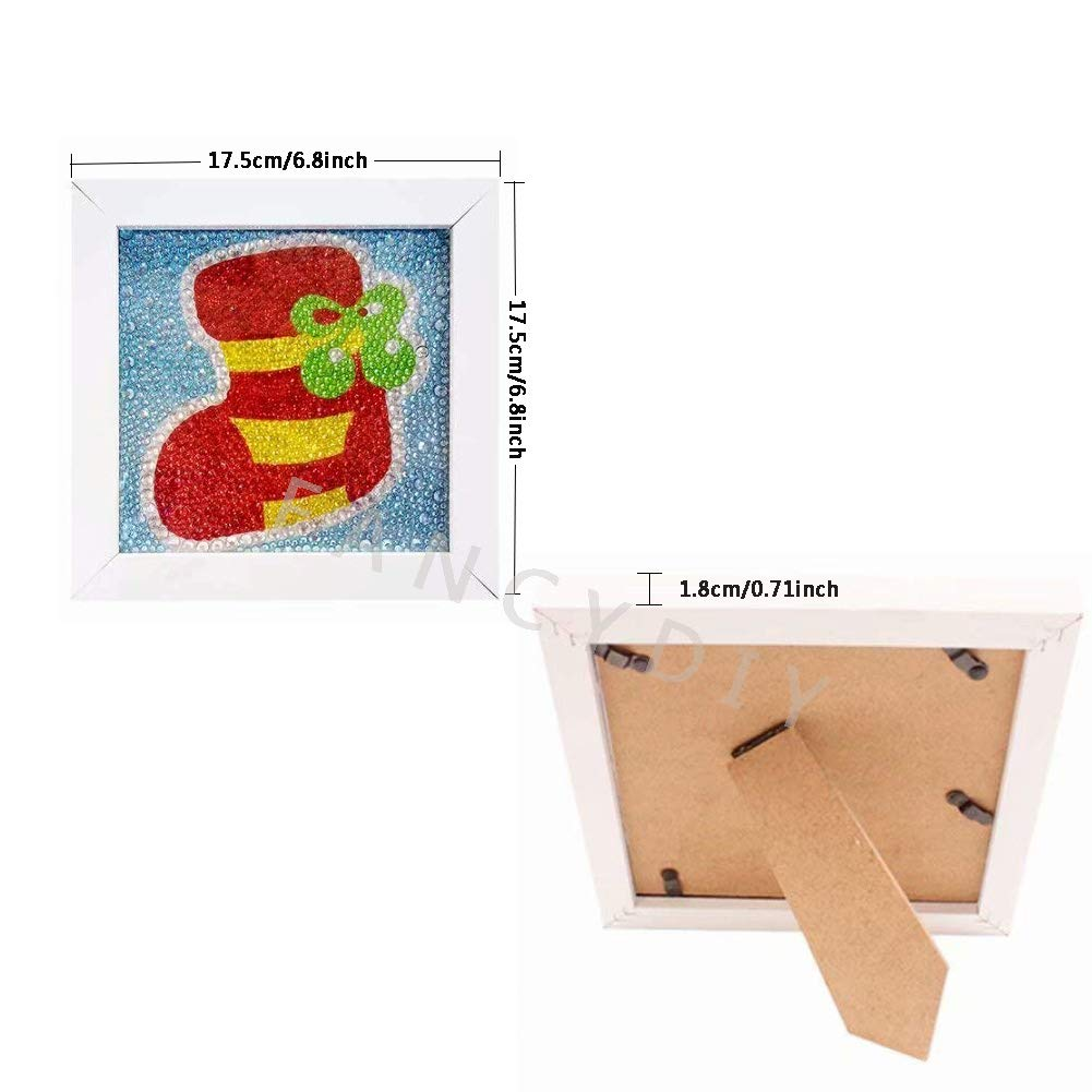 Santa Claus Fancy diy Diamond Pianting Kits for Kids Diamond Painting Christmas with Frame Full Drill