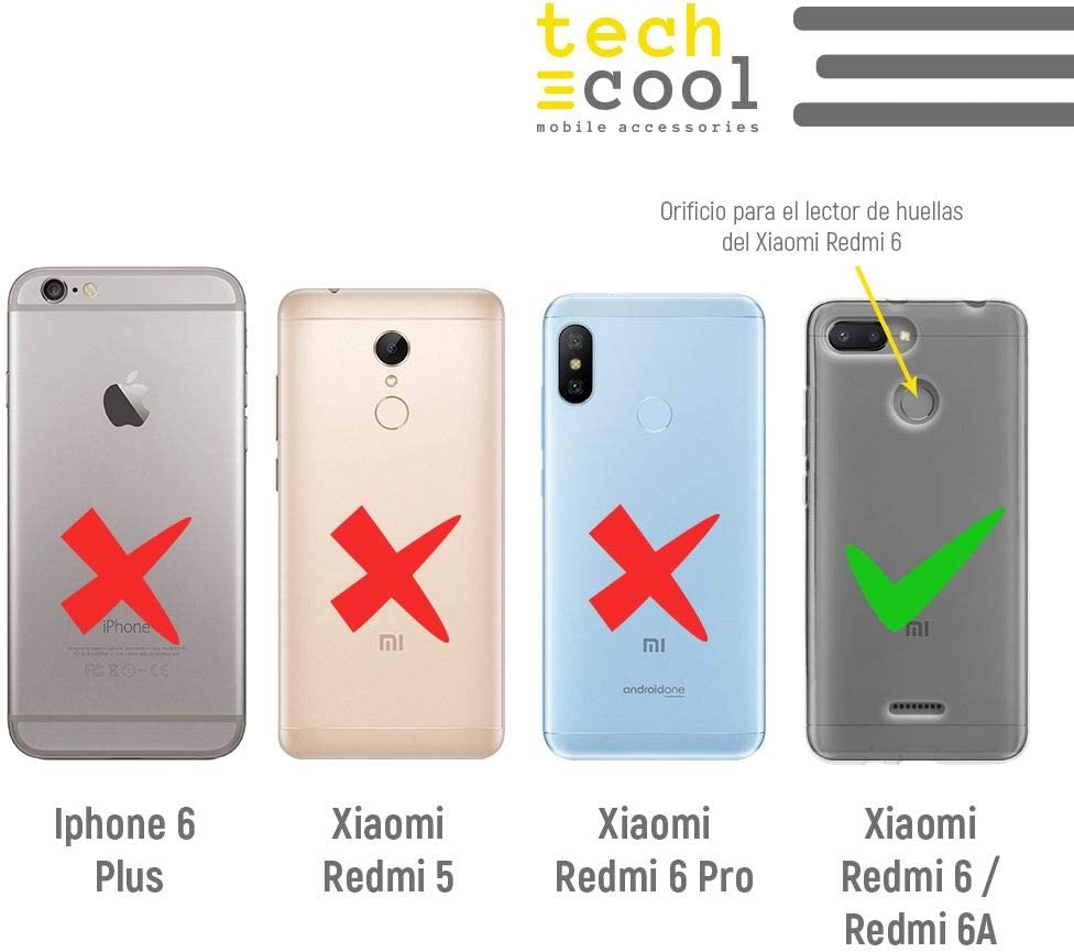 Funnytech/® Funda Silicona para Xiaomi Redmi 6 //Xiaomi Redmi 6A Rosa Frase t/ú Eres mi Mejor Regalo Incluye Lector de Huellas Gel Silicona Flexible, Dise/ño Exclusivo