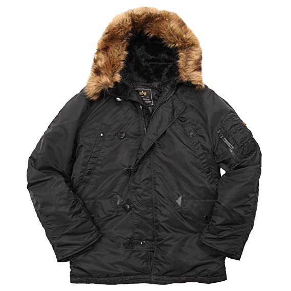Alpha Industries Mens N-3B Parka Coat